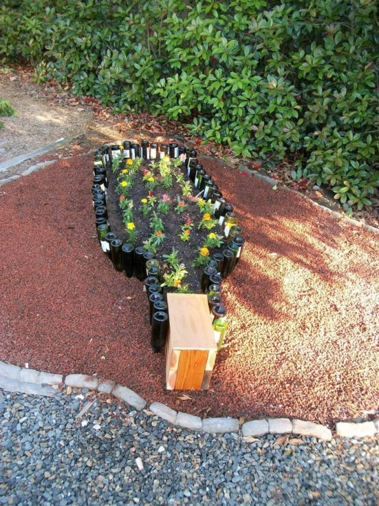 Compact Wine Bottle Garden