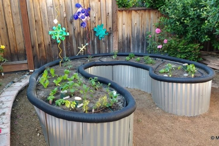Raised Bed Garden From Roofing Sheet Metal