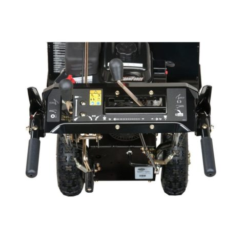 Top view of Sno Tek Snow Blower,showing the gear controller of the machine.