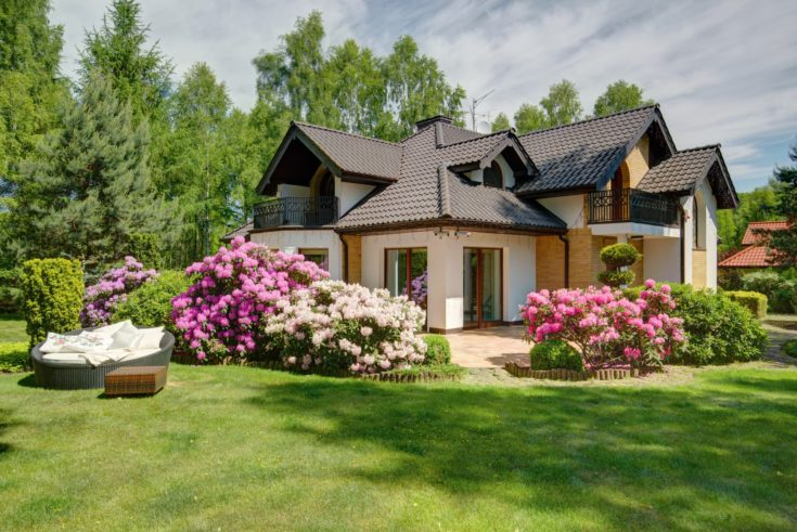 Picture of beautiful village house with garden