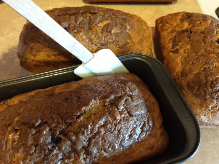 Freshly Baked Layered Cinnamon Zucchini Breakfast Bread