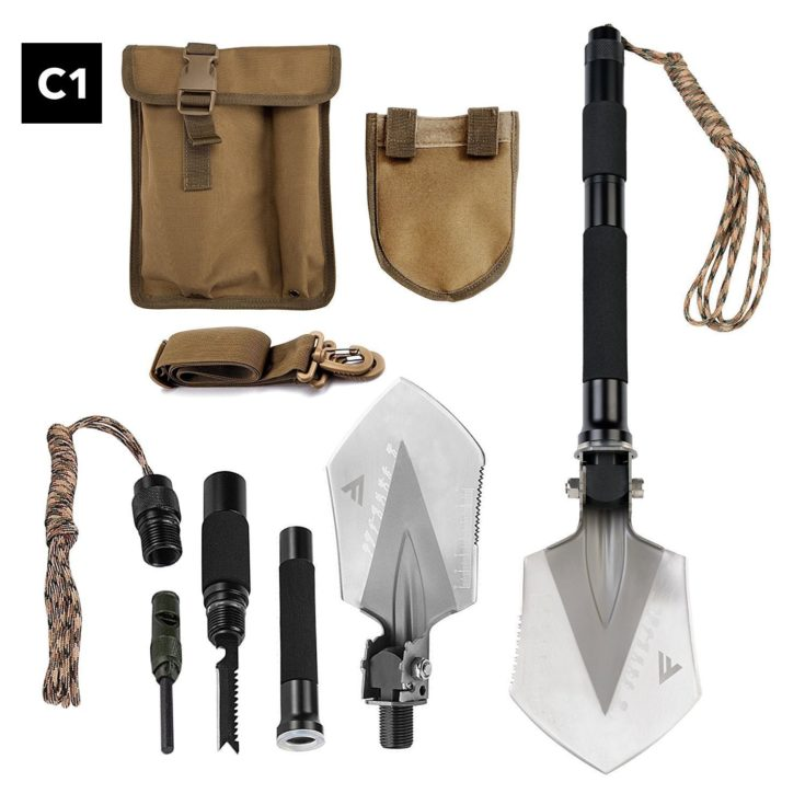 FiveJoy Military Folding Shovel