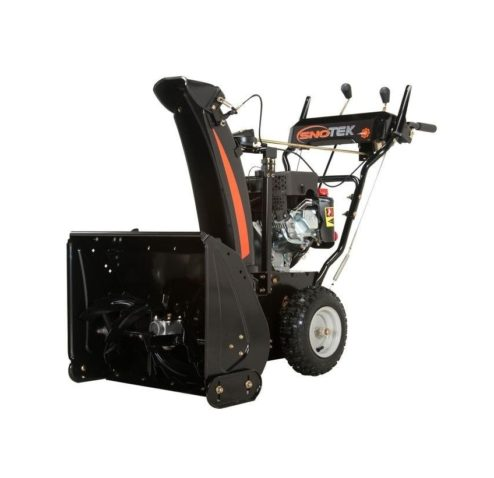 SNO-Tek 24 in. 2-Stage Electric Start Gas Snow Blower in a white background.