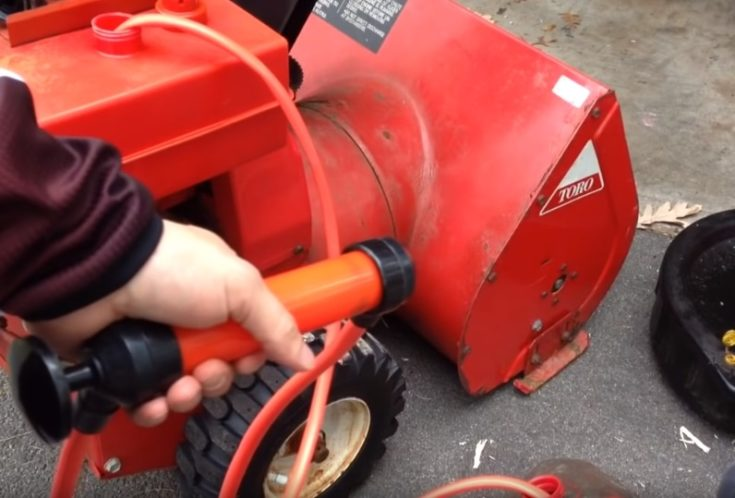 Gas remove the easy way using a fuel transfer pump.