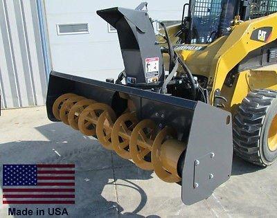 Streamline Industrial SNOW BLOWER Skid Steer Attachment, 48-Inch Cut