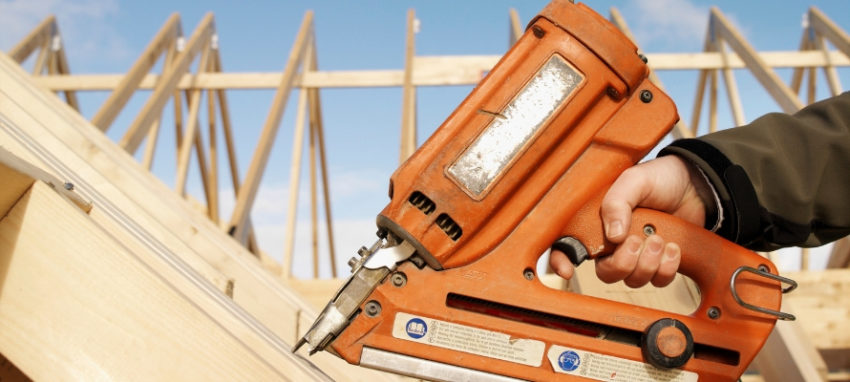 Nail Gun used in roofing