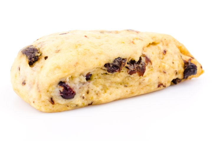 Veggie Scone on white background