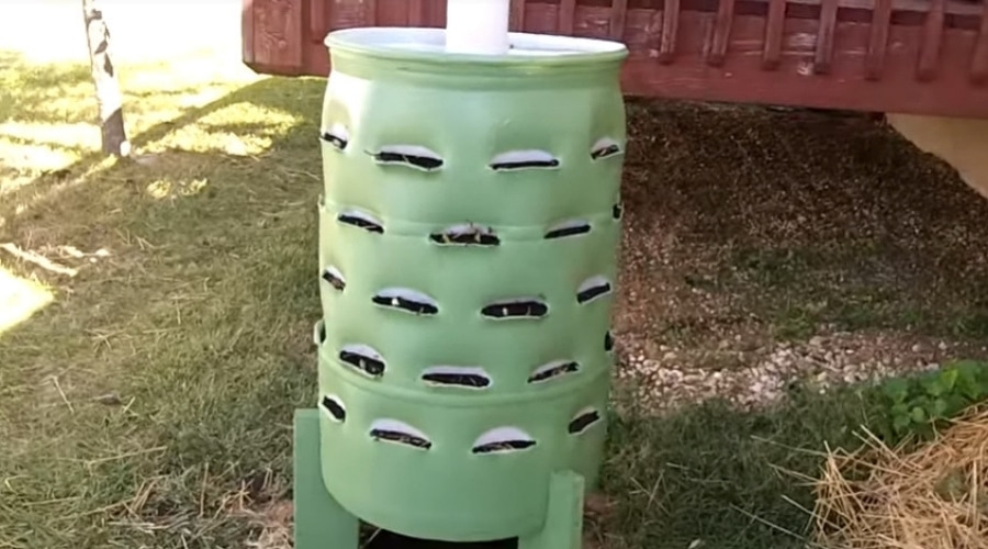 Featured Image - How to Make a Garden Tower from a Barrel