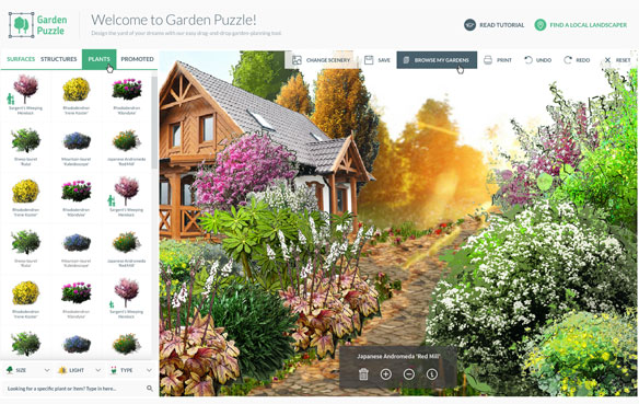 Garden Puzzle - The Best Landscape Design Software for Mac Users
