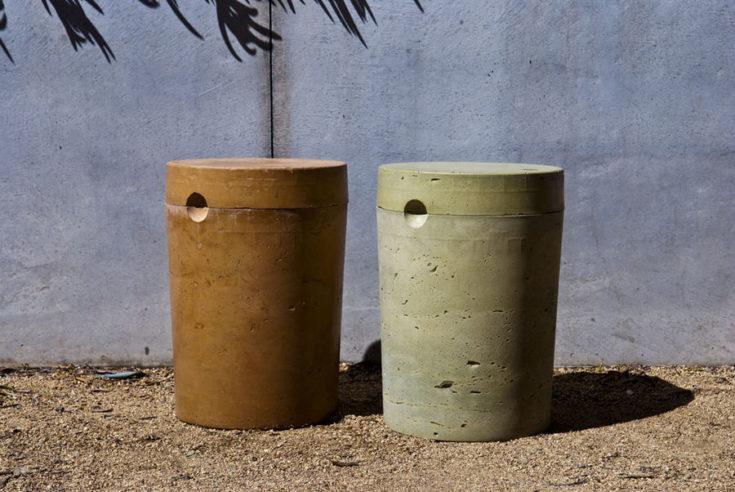 5 gallon concrete stool