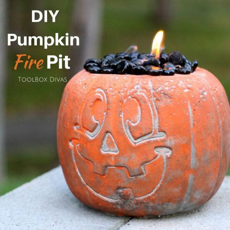 Concrete Halloween Pumpkin Fire Pit