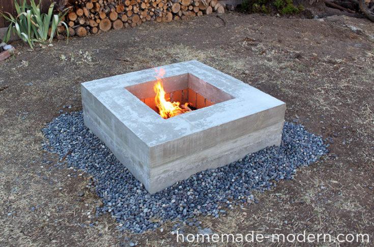 Modern DIY Concrete Fire Pit