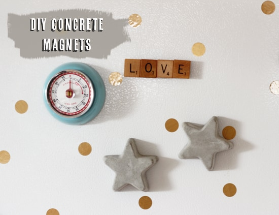 assorted concrete magnets