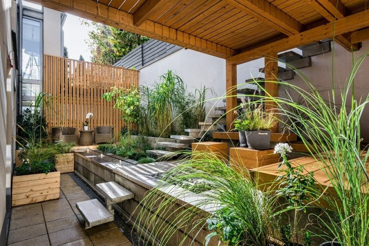 House, Patio, Luxury, Wood, Seat, Outdoors, Backyard