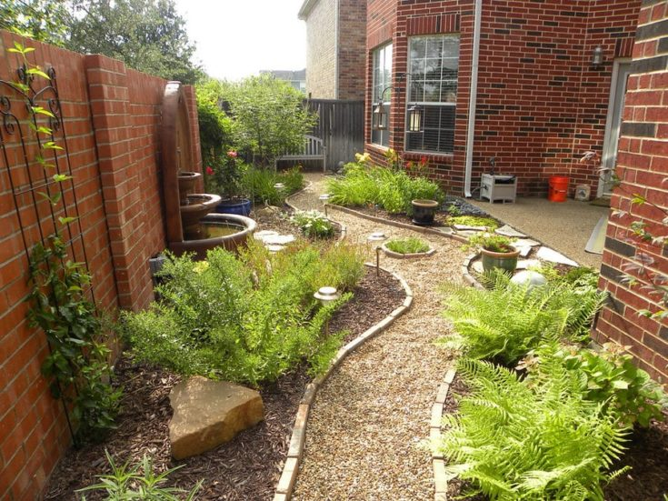 a garden setup in narrow spaces