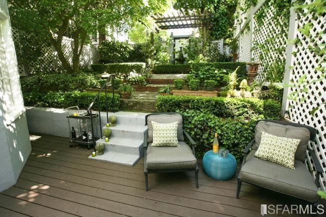 an interior garden that has cool shadows and draping vines