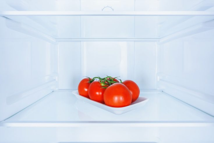 tomatoes inside the freezer