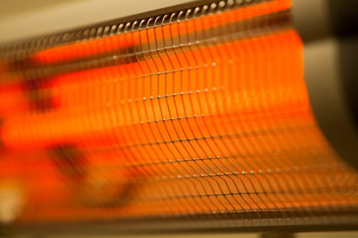 a close up look of an Infrared heater