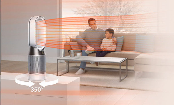 Projects purified air to every corner of the room - Dyson