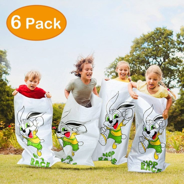 iBaseToy Potato Sack Race Bags, Potato Sacks for Races Luau Party Games for Kids Outdoor Games Birthday Party Game