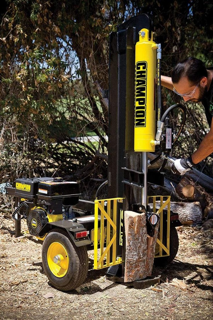Champion 37-Ton Horizontal and Vertical Full Beam Gas Log Splitter