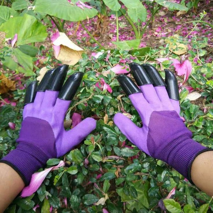 Garden Genie Gloves, Waterproof Garden Gloves with Claw For Digging Planting