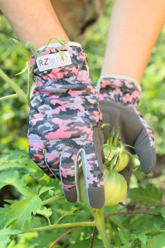 Garden Gloves Women Premium, For Gardening, Roses & Yard Work with Protective Grip and Breathable Microfiber with Touchscreen