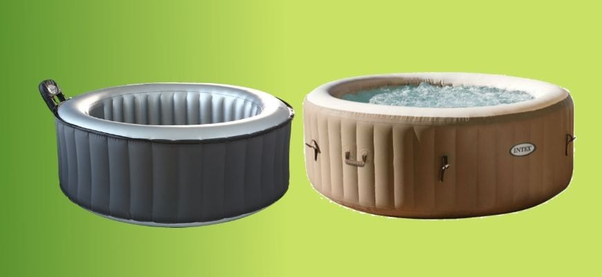 two inflatable hot tubs