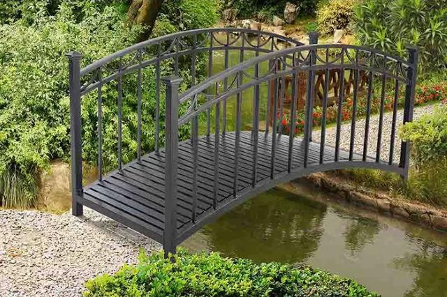 Francis Bridge in the garden