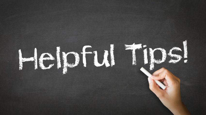 Helpful Tips Chalk Illustration