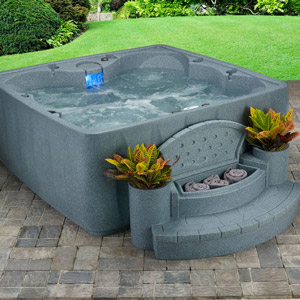 Spa with Ozone, Heater, 19 Stainless Steel Jets and LED Waterfall