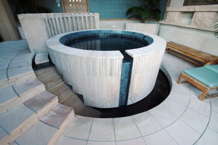 Hot tub in a spa setting