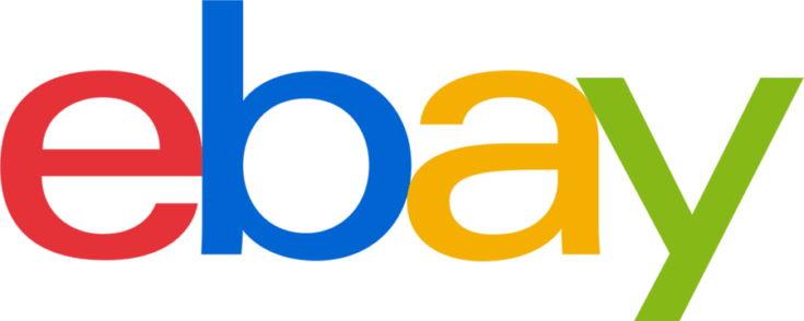 Ebay logo in white background.