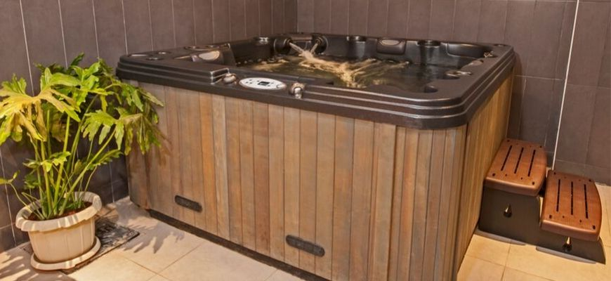 wooden design bath tub