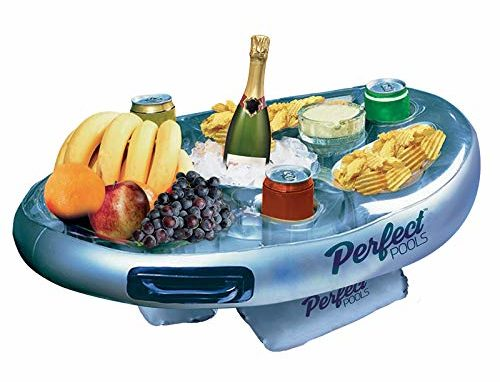 Life Floating Spa Bar Inflatable Hot Tub Side Tray for Drinks and Snacks isolated in white background
