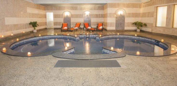 Large jacuzzi in a health spa