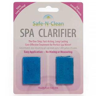 Safe-N-Clean Spa Clarifier Gel Cap in white background