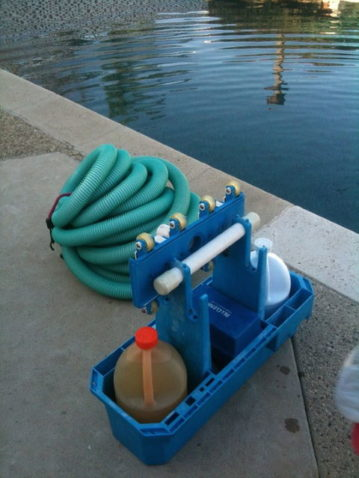 pool maintenance equipments and chemicals