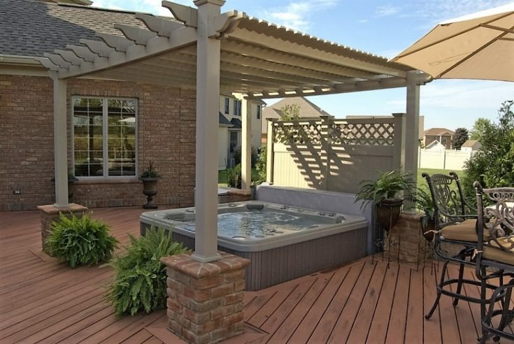 Hot Tub Perola Deck with matching details in grey theme