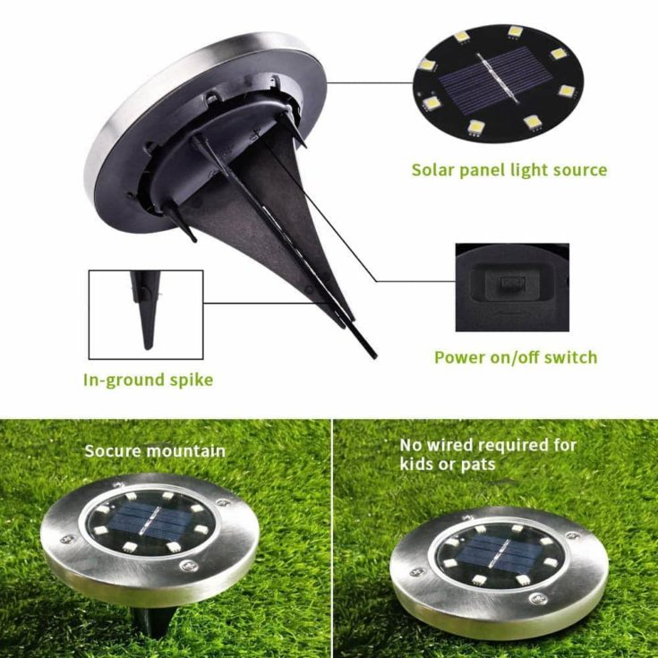 solar lights easy installation presentation