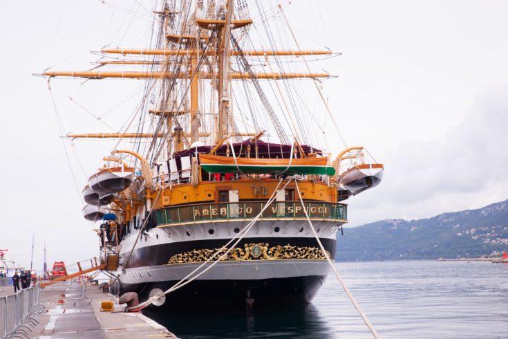 The Amerigo Vespucci is a tall ship of Italy Navy