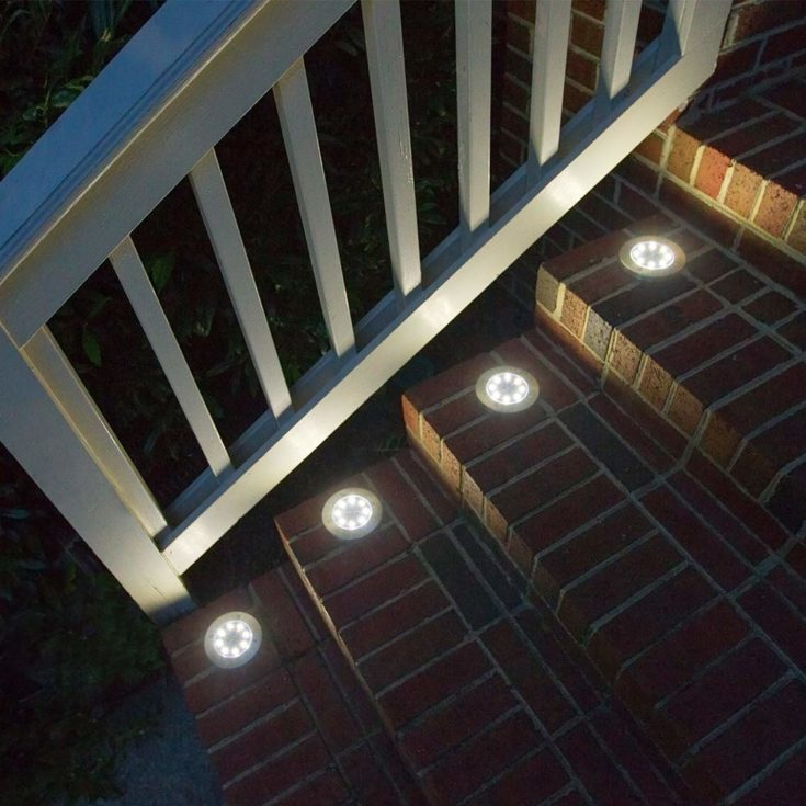 4 Led lights at the side of the stair case .
