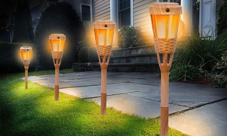 4 Touch of ECO suntorch gives lights to pathway.