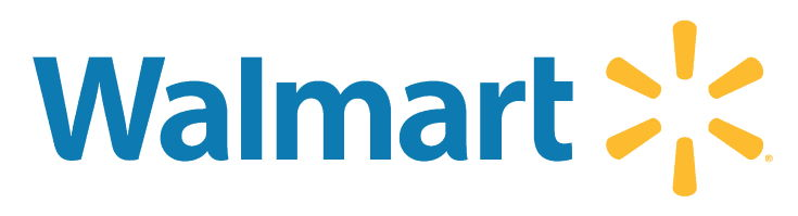 Walmart logo in white background