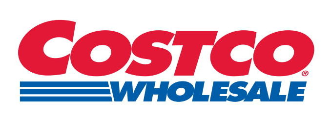 Costco logo in white background