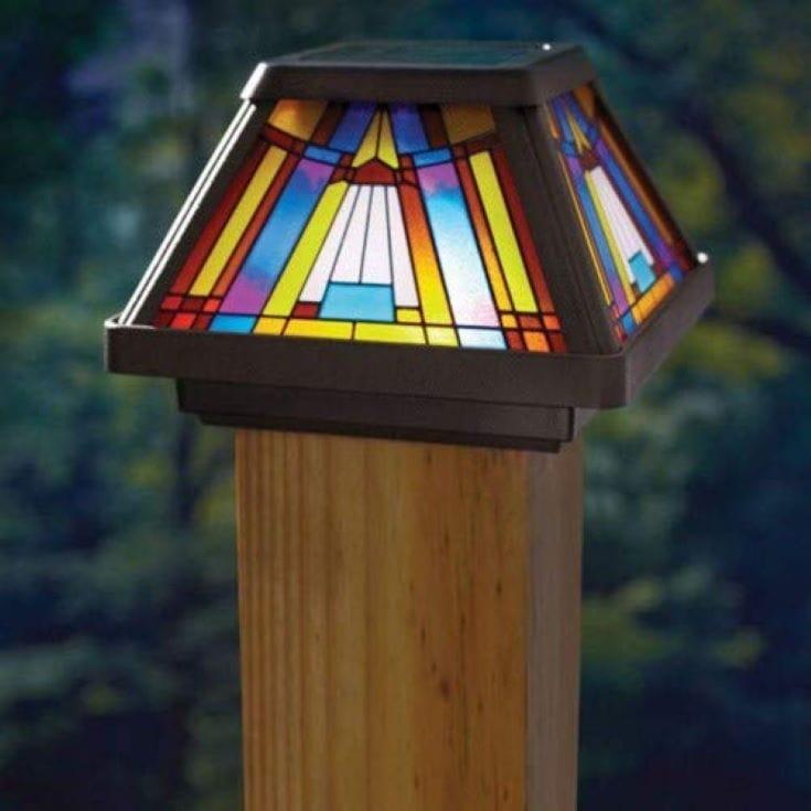 4x4 Wood Fence Post Solar Light 4x4 Post Cap Solar Lights
