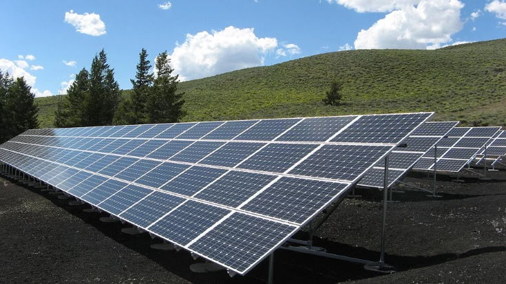 Solar Panel Array Power Sun Electricity Energy, in field
