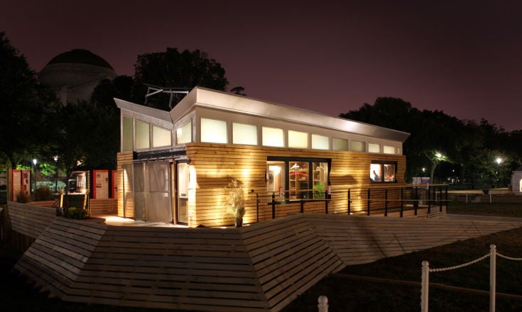 Solar-Powered LED Lights wooden house