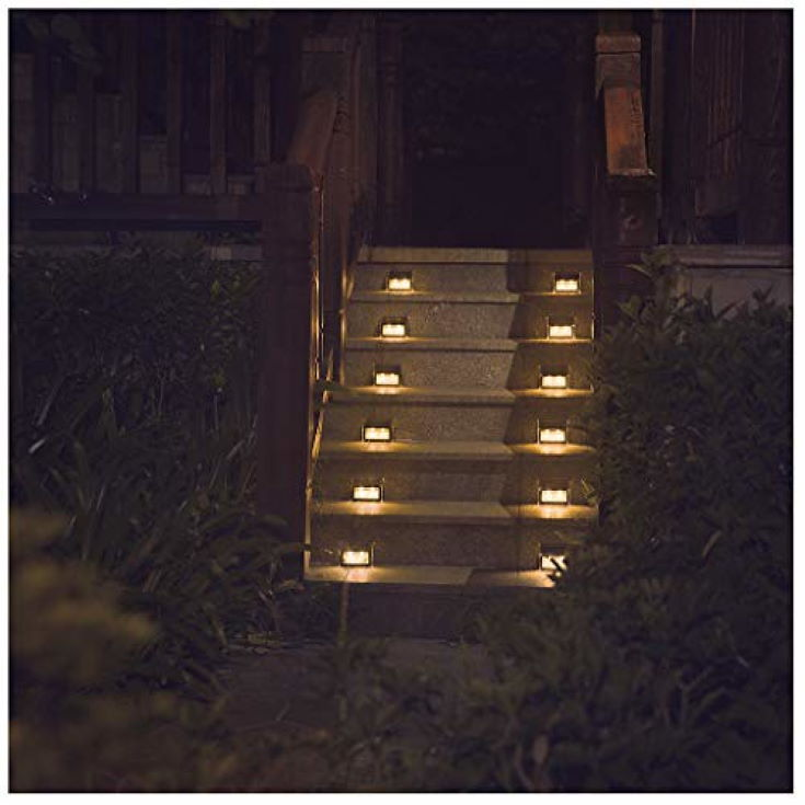 Warm Stair Solar Lights in night time