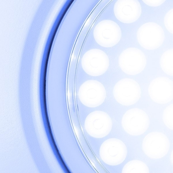Cropped view of energy - efficient Led bulb.